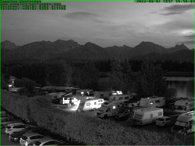 Hopfen am See webcam - Camping Hopfensee 1 webcam, Swabia, Ostallgaeu